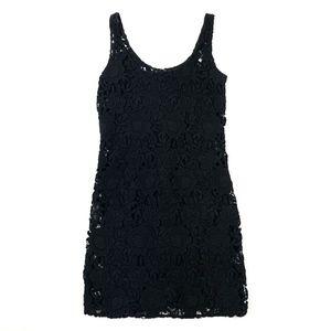 Prada Lace Sleeveless Dress w/ Silk Slip 38